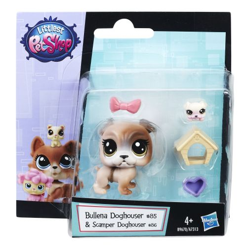 Littlest Pet Shop Bullena Doghouser & Scamper Doghouser